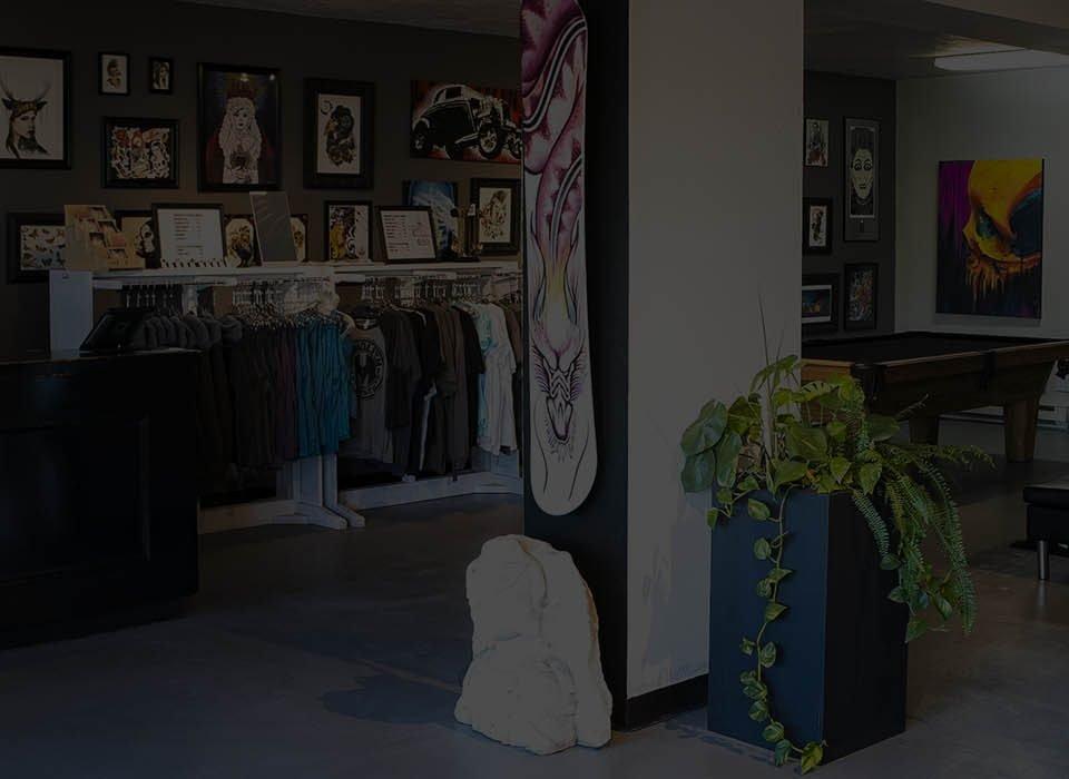 monolith tattoo studio lobby